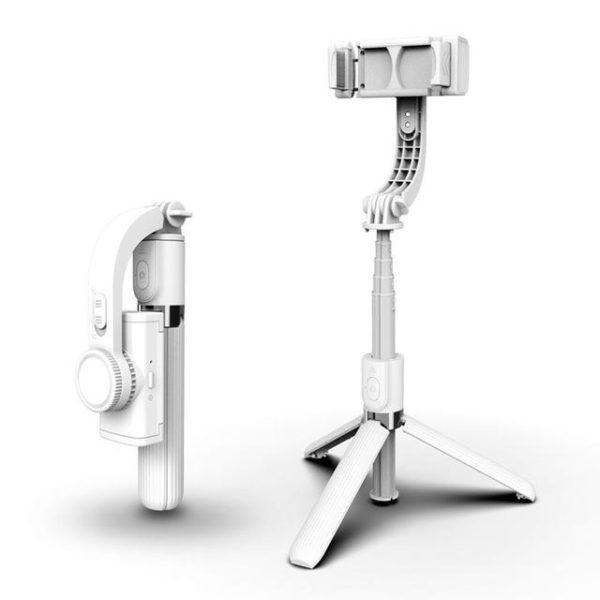 Support Intelligent 3D Pour Téléphone Portable Raton Malin Modèle 1 Blanc