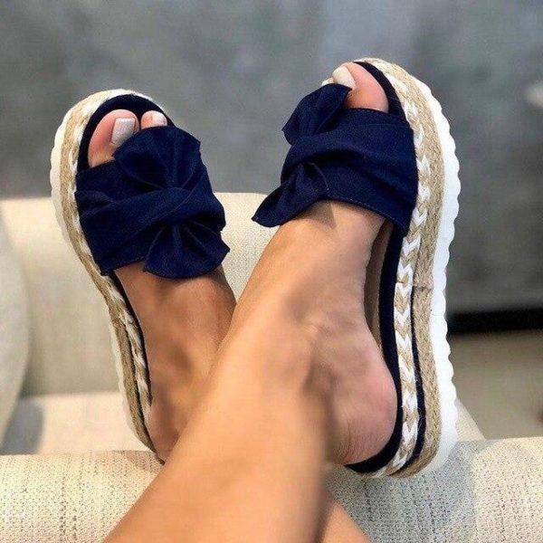 Sandales Nœud Papillon Minute Mode Bleu 40