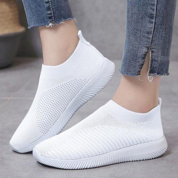 Baskets Slip-On Unies Site Vêtements Blanc 35