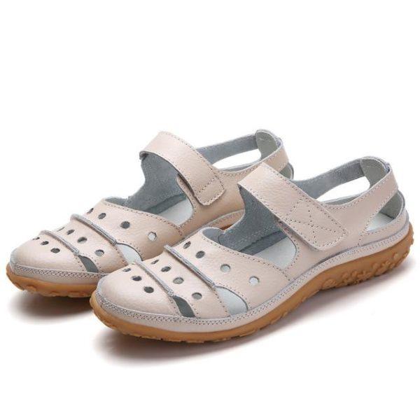 product image 1495284839 Sandales Plates À Fermeture Velcro