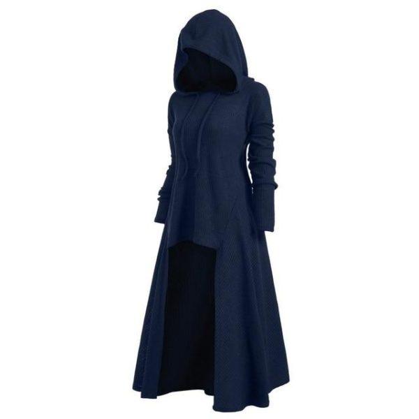 Manteau à Capuche Manches Longues Site Vêtements Bleu M