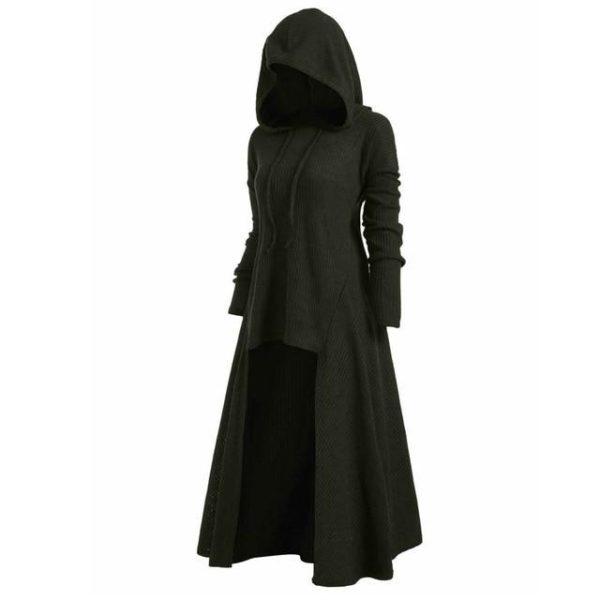 Manteau à Capuche Manches Longues Site Vêtements Vert XL