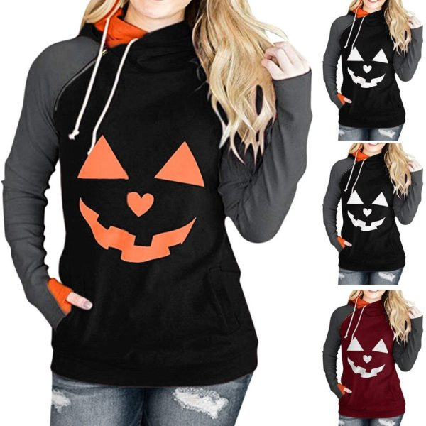 product image 1515517159 Sweat Col Montant Halloween