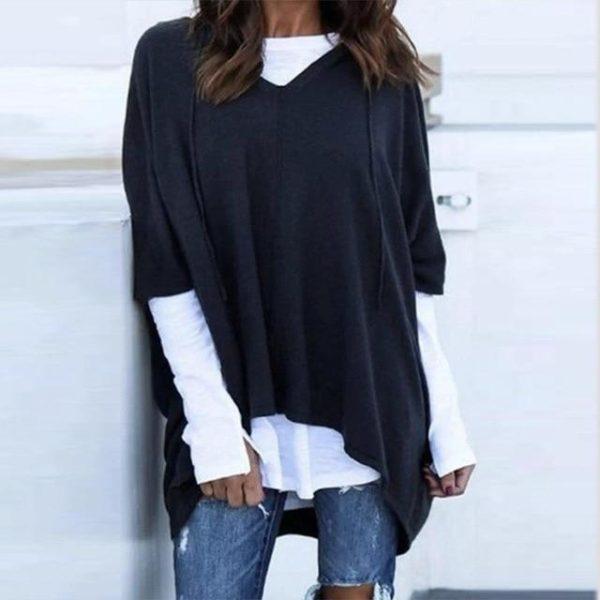 T-Shirt Deux-Pièces à Capuche Site Vêtements Noir S