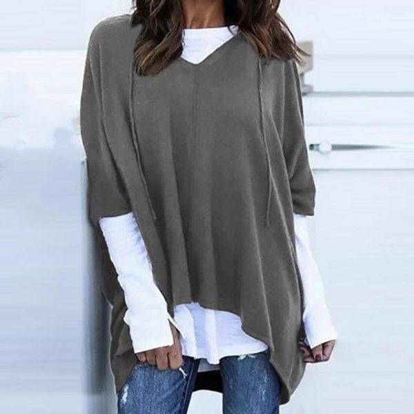 T-Shirt Deux-Pièces à Capuche Site Vêtements Gris S