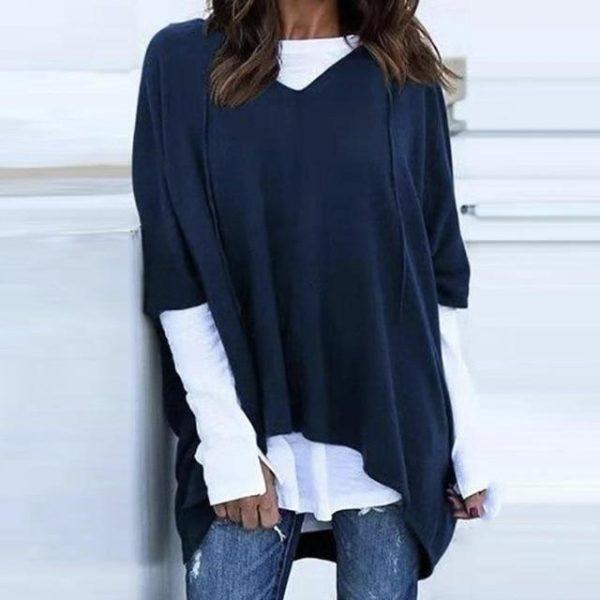 T-Shirt Deux-Pièces à Capuche Site Vêtements Bleu XL