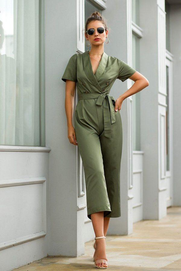 Combinaison Verte Nouée Site Vêtements M