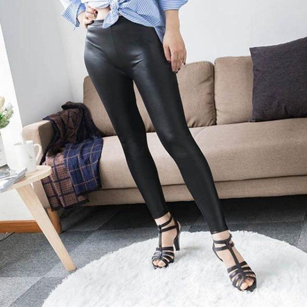Legging en Cuir Site Vêtements black Asian Size S