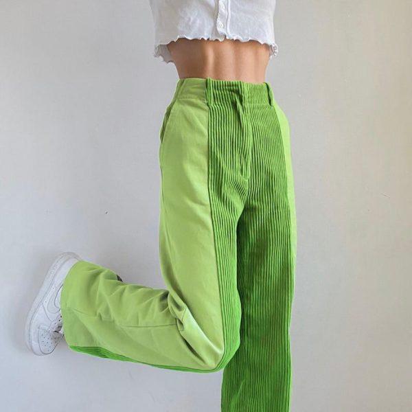 Pantalon Vintage en Velours Site Vêtements