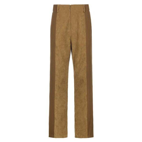 Pantalon Vintage en Velours Site Vêtements Beige L