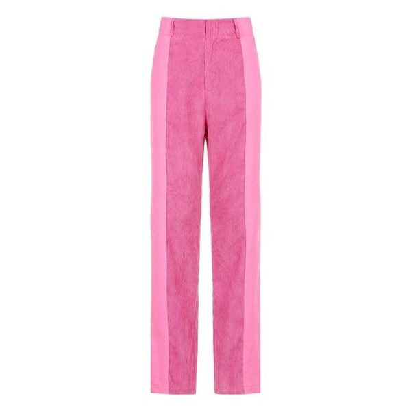 Pantalon Vintage en Velours Site Vêtements Rose 1 L