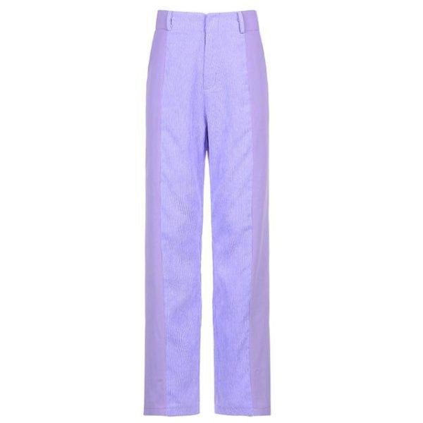 Pantalon Vintage en Velours Site Vêtements Violet 1 L