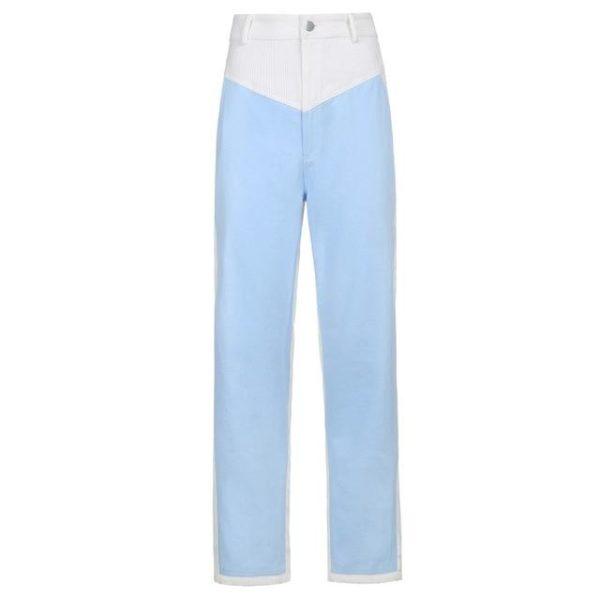 Pantalon Vintage en Velours Site Vêtements Bleu M