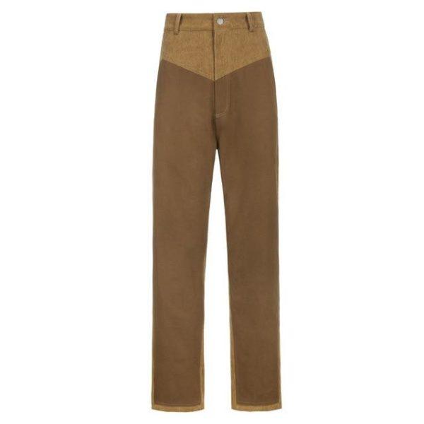 Pantalon Vintage en Velours Site Vêtements Marron S