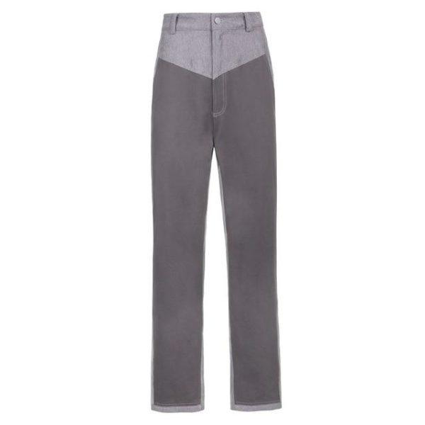 Pantalon Vintage en Velours Site Vêtements Gris M