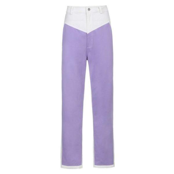 Pantalon Vintage en Velours Site Vêtements Violet 2 M