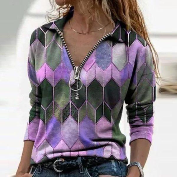 Blouse Vintage à Col en V Site Vêtements Violet S