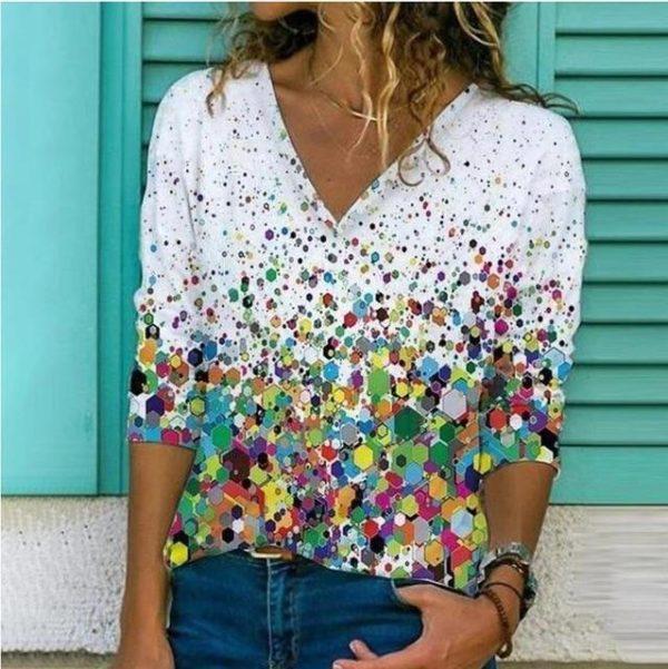 Chemise Elégante Imprimée Site Vêtements Modèle 2 S