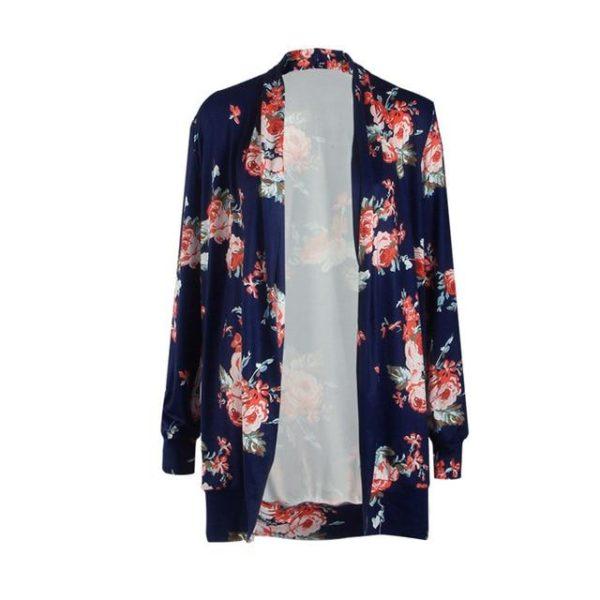 Veste Fleurie - Nouvelle Collection Site Vêtements Bleu M