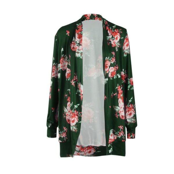 Veste Fleurie - Nouvelle Collection Site Vêtements Vert S