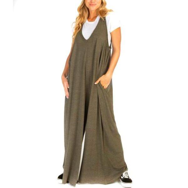 Combinaison Ample Boho Site Vêtements Vert