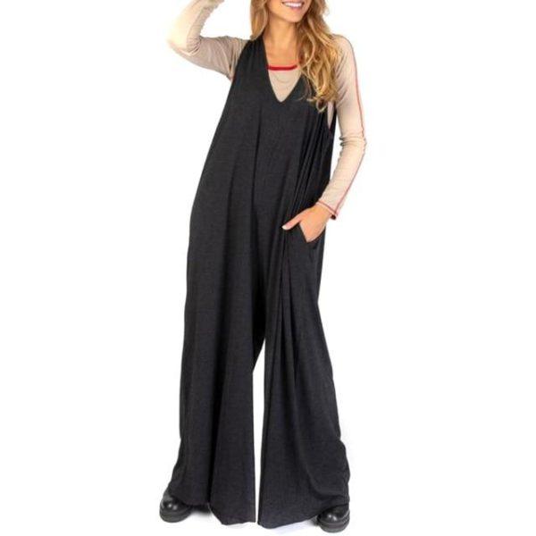 Combinaison Ample Boho Site Vêtements Noir