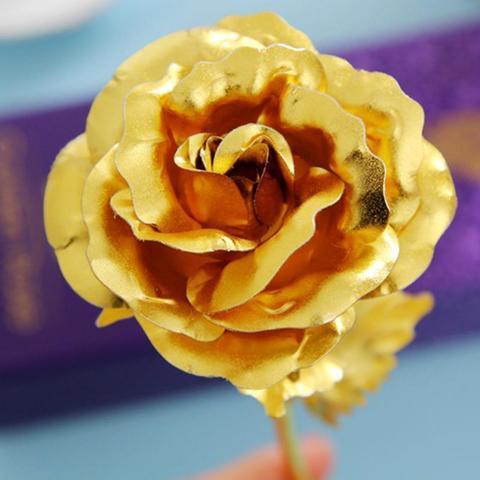 product image 221439022 large 67c4b6d6 79cf 4681 8f32 6e4567fbb7ad Rose Éternelle Plaqué Or 24 Carat, Signe De Votre Amour Éternel