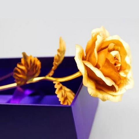 product image 281354634 large 4435c2c0 5fea 45b9 9115 0b5a8f3f2b87 Rose Éternelle Plaqué Or 24 Carat, Signe De Votre Amour Éternel