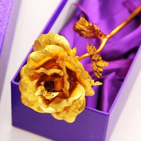 product image 281354636 large cad8a43f d24a 4169 a5cd c71f21d85a1c Rose Éternelle Plaqué Or 24 Carat, Signe De Votre Amour Éternel