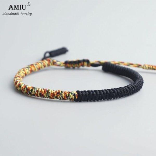 product image 471426638 Bracelet De Cordes Tibétain Fait À La Main