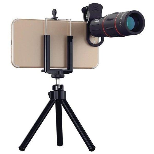 Objectif pour Smartphone - Zoom X18 Raton Malin Avec trépied