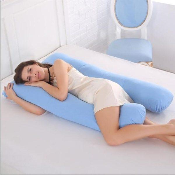 PerfectSleep™ - Grand oreiller de corps raton-malin Bleu