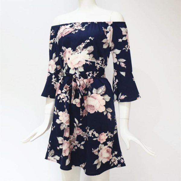 product image 542042227 Robe Florale Épaules Dénudées