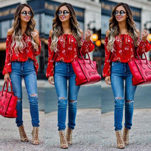 product image 566366684 Blouse Rouge Fleurie