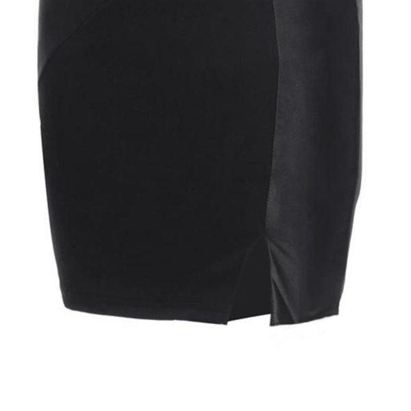 product image 571261569 Robe Noire Avec Détails Effet Cuir