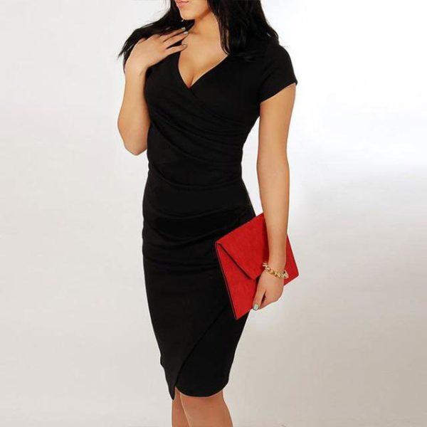 Robe slim portefeuille Minute Mode Noir L