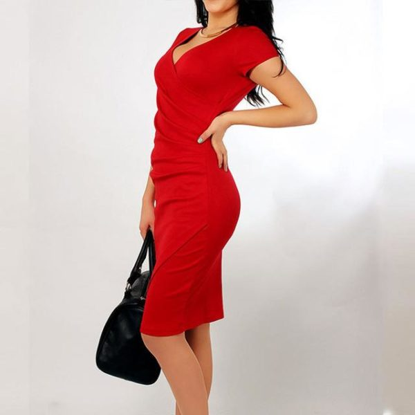 Robe slim portefeuille Minute Mode Rouge L