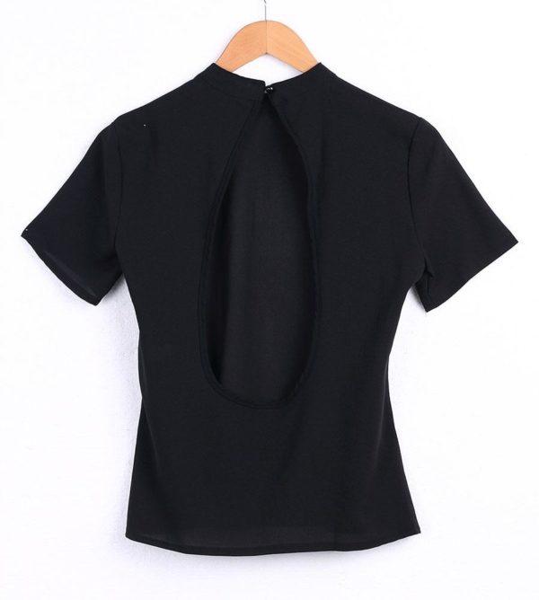 product image 614263652 Blouse Noire Dos Nu