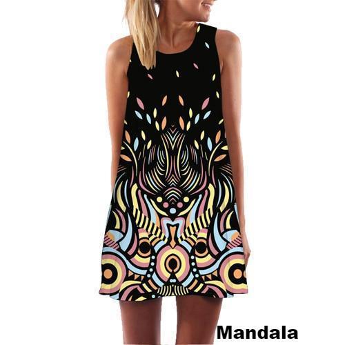 Robe Imprimée Sans Manches Minute Mode Mandala S