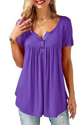 Blouse Féminine à Boutons Minute Mode Violet XXXL