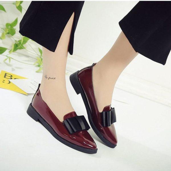 Chaussures Nœud Pap Minute Mode Bordeaux 35