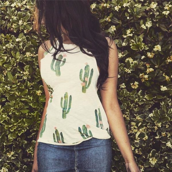 product image 732765698 Top Imprimé Cactus