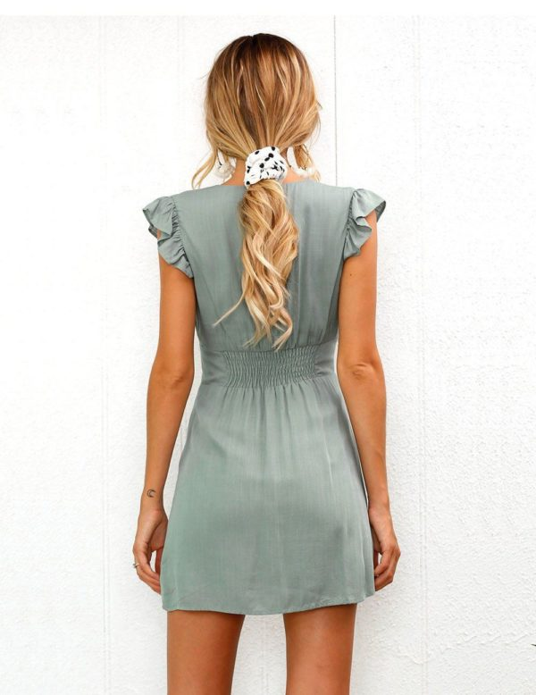 product image 760977878 Petite Robe Décolletée À Boutons