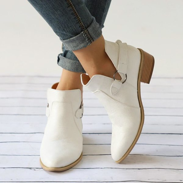 Chaussures à boucles LOOP Minute Mode Blanc 35