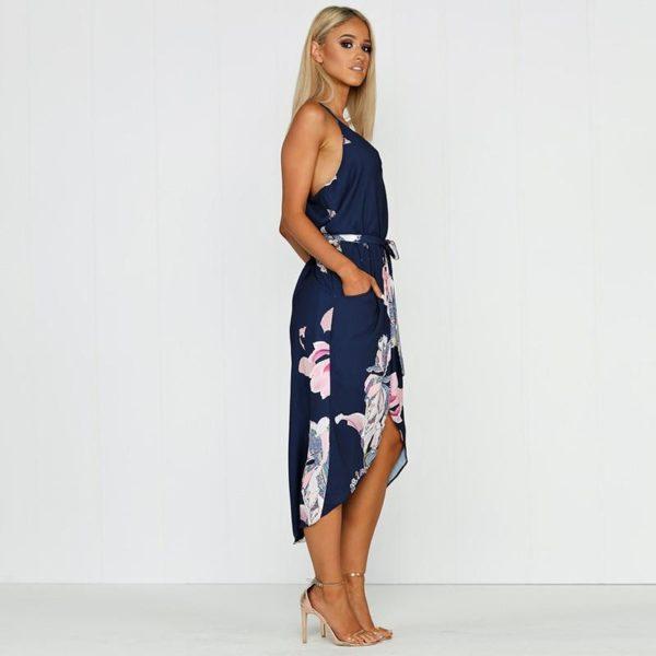 product image 791057039 Robe Florale Bleu Marine