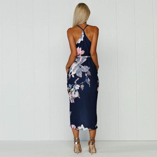 product image 791057044 Robe Florale Bleu Marine