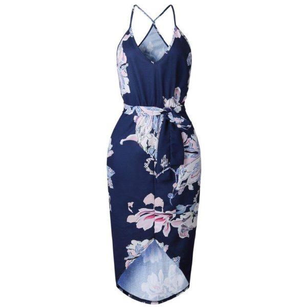 product image 791057047 Robe Florale Bleu Marine