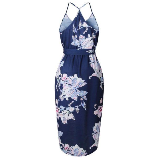 product image 791057049 Robe Florale Bleu Marine