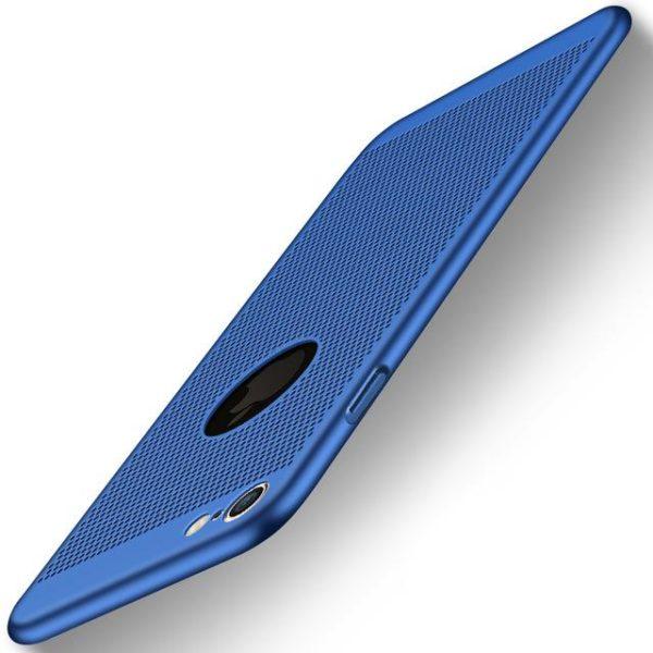 Coque ultra fine avec dissipateur de chaleur pour iPhone raton-malin Bleu iPhone 5 5s SE