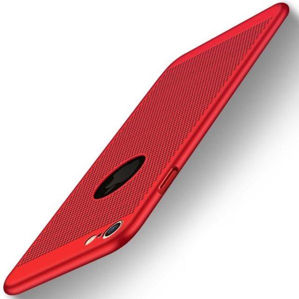 Coque ultra fine avec dissipateur de chaleur pour iPhone raton-malin Rouge iPhone 5 5s SE